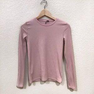 Zara Pink Long Sleeve Mockneck